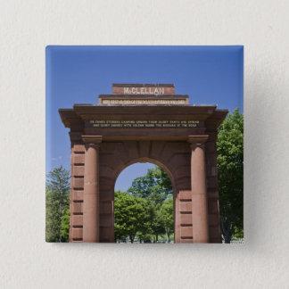 USA, VA, Arlington. McClellan Gate at Arlington Button