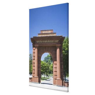 USA, VA, Arlington. McClellan Gate at Arlington Canvas Print