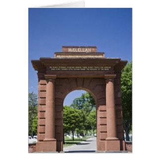 USA, VA, Arlington. McClellan Gate at Arlington Card