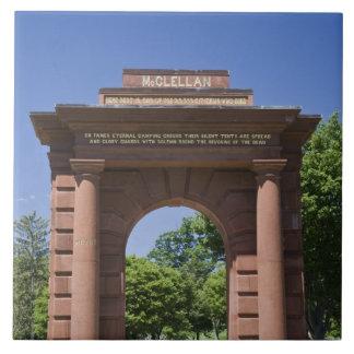 USA, VA, Arlington. McClellan Gate at Arlington Ceramic Tile