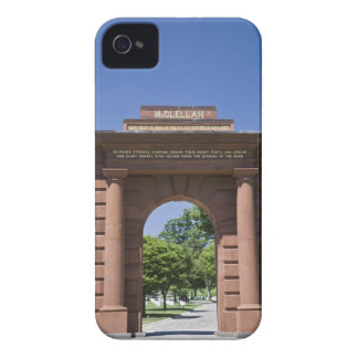 USA, VA, Arlington. McClellan Gate at Arlington iPhone 4 Case-Mate Case
