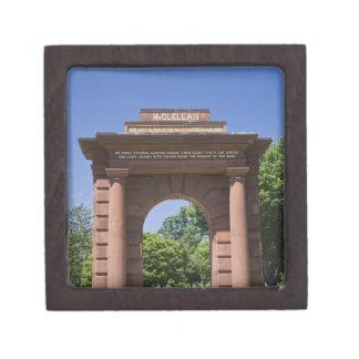 USA, VA, Arlington. McClellan Gate at Arlington Jewelry Box