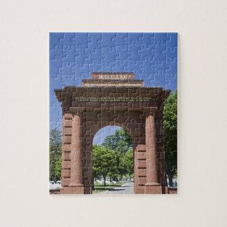 USA, VA, Arlington. McClellan Gate at Arlington Jigsaw Puzzle
