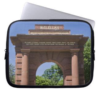 USA, VA, Arlington. McClellan Gate at Arlington Laptop Sleeve