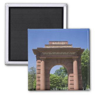 USA, VA, Arlington. McClellan Gate at Arlington Magnet