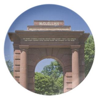 USA, VA, Arlington. McClellan Gate at Arlington Melamine Plate