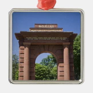 USA, VA, Arlington. McClellan Gate at Arlington Metal Ornament