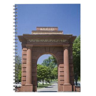 USA, VA, Arlington. McClellan Gate at Arlington Notebook