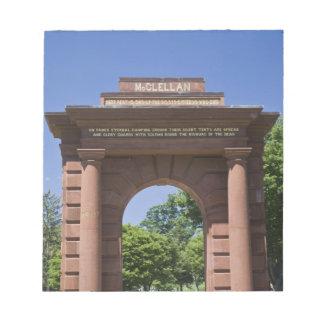 USA, VA, Arlington. McClellan Gate at Arlington Notepad