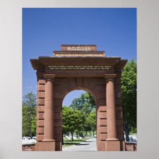 USA, VA, Arlington. McClellan Gate at Arlington Poster