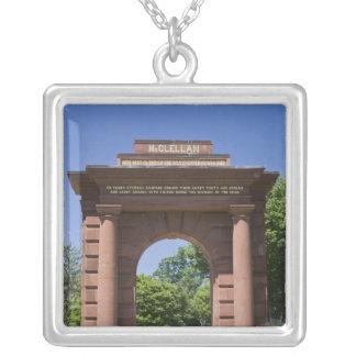 USA, VA, Arlington. McClellan Gate at Arlington Silver Plated Necklace