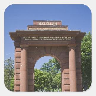 USA, VA, Arlington. McClellan Gate at Arlington Square Sticker