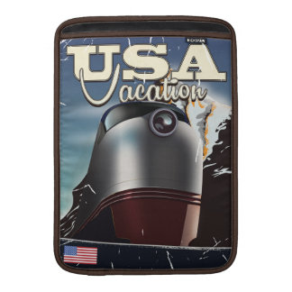 USA Vacation Train vintage Locomotive train Poster MacBook Air Sleeves