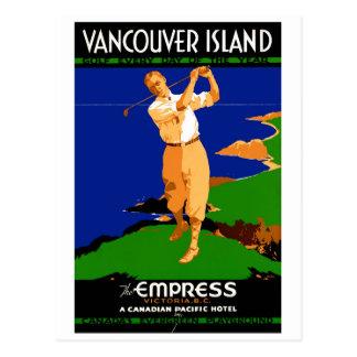 USA Vancouver Island Vintage Poster Restored Postcard