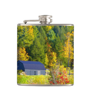 USA, Vermont. Fall foilage along Highway 100. Hip Flasks