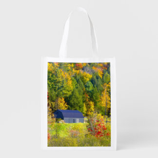 USA, Vermont. Fall foilage along Highway 100. Grocery Bag