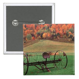 USA, Vermont, Farm. 2 Inch Square Button
