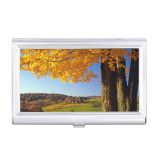 USA, Vermont. Farm Scenic Near South Woodstock Business Card Case
