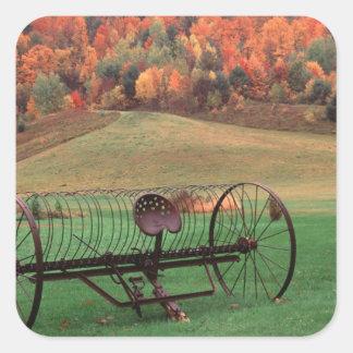 USA, Vermont, Farm. Square Sticker