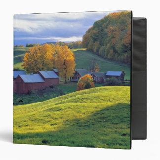 USA, Vermont, Jenne Farm. Rolling green hills Binders