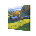 USA, Vermont, Jenne Farm. Rolling green hills Canvas Print