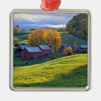 USA, Vermont, Jenne Farm. Rolling green hills Ornament