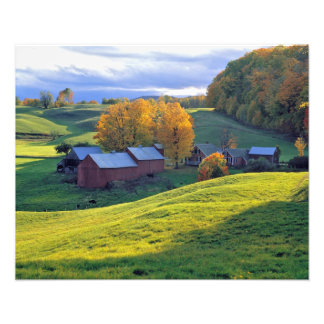 USA, Vermont, Jenne Farm. Rolling green hills Photo