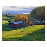 USA, Vermont, Jenne Farm. Rolling green hills Poster