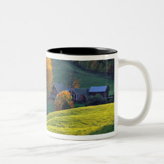 USA, Vermont, Jenne Farm. Rolling green hills Two-Tone Coffee Mug