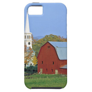 USA, Vermont, Peacham. A red barn and white iPhone SE/5/5s Case