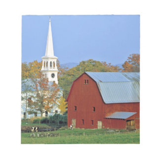 USA, Vermont, Peacham. A red barn and white Memo Note Pads