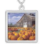 USA, Vermont, Shelbourne, Pumpkins Square Pendant Necklace