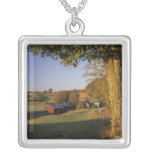 USA, Vermont, south Woodstock, Jenne Farm at Silver Plated Necklace