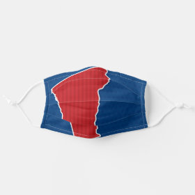 USA Vermont State Patriotic Stars and Stripes Map Cloth Face Mask