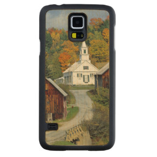 USA, Vermont, Waits River. Fall foliage adds Carved Maple Galaxy S5 Slim Case