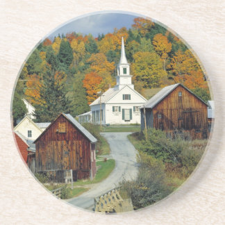 USA, Vermont, Waits River. Fall foliage adds Drink Coaster