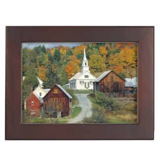 USA, Vermont, Waits River. Fall foliage adds Memory Box