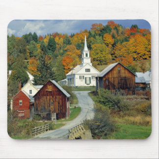 USA, Vermont, Waits River. Fall foliage adds Mouse Pad