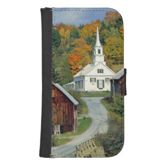 USA, Vermont, Waits River. Fall foliage adds Phone Wallet