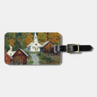 USA, Vermont, Waits River. Fall foliage adds Tag For Luggage