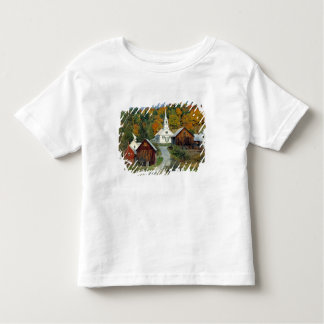 USA, Vermont, Waits River. Fall foliage adds Toddler T-shirt