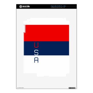 USA Vertical Striped iPad 2 Decals