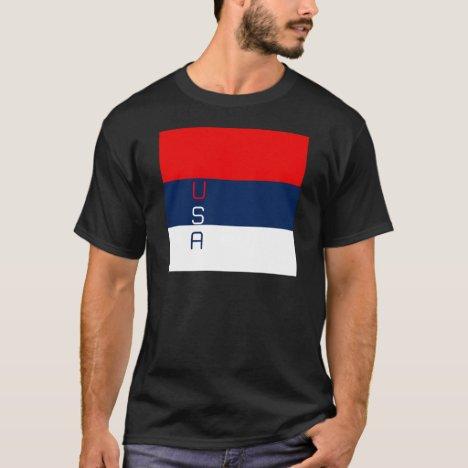 USA Vertical Striped T-Shirt