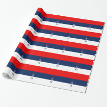 USA Vertical Striped Wrapping Paper