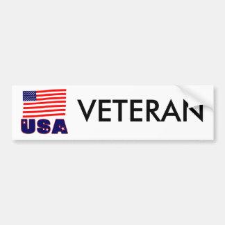 USA Veteran Apparel & Merchandise Car Bumper Sticker