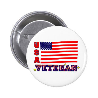 USA Veteran Buttons - Personalize it!