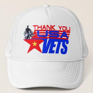 USA VETERANS TRUCKER HAT