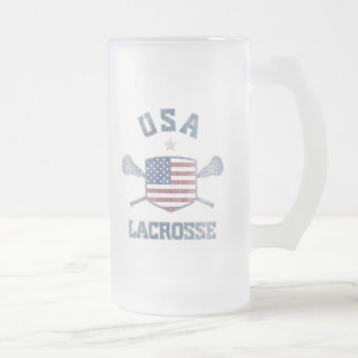 USA-Vintage Frosted Glass Beer Mug