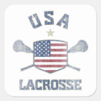 USA-Vintage Square Sticker