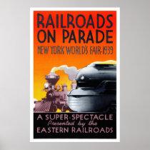 USA Vintage Travel Poster Restored